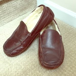 UGG leather slippers size 9